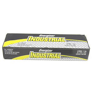 Energizer AA Industrial Alkaline Batteries, Box of 24