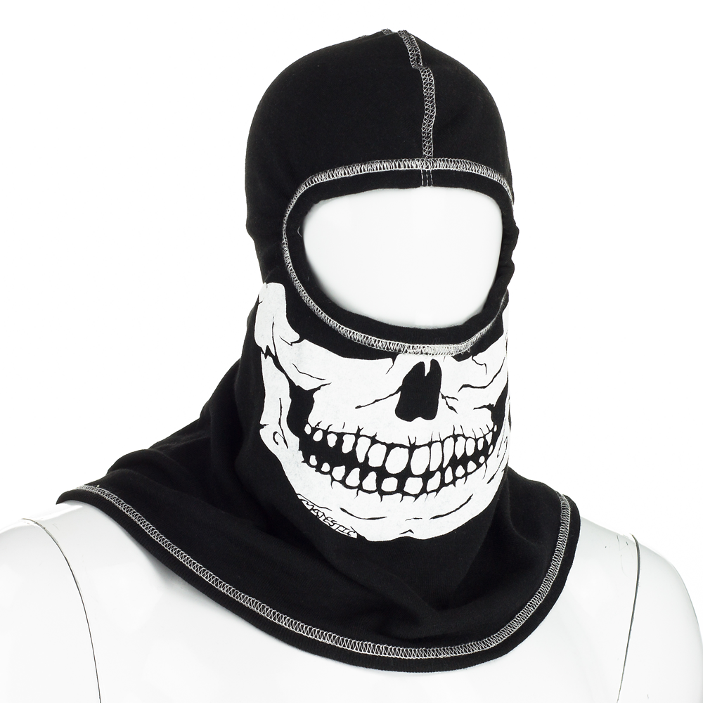 Majestic PAC F20 Black Ultra C6 Hood with White Fire Ink Skull