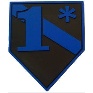 FrontLine Designs, LLC Blue Line 1* PVC Patch with Velcro
