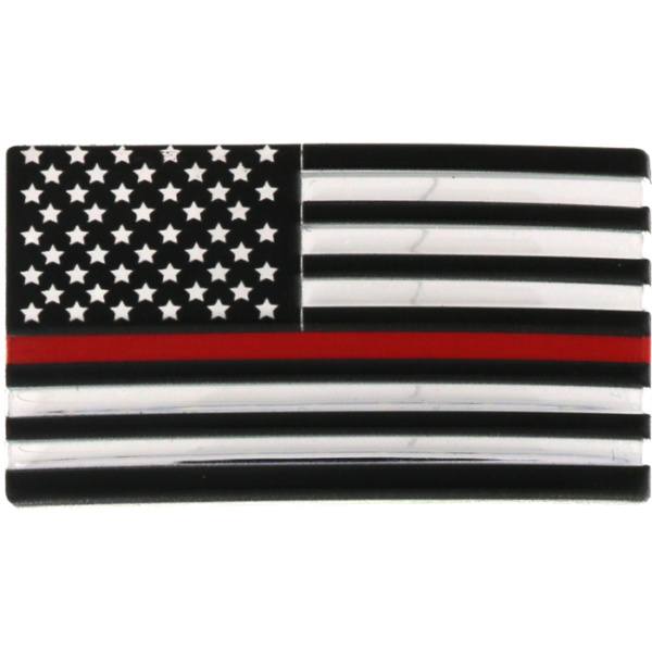 Blackinton 3D Flex Metallic Thin Red Line Flag with Hook and Loop