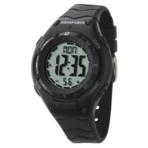 Frontier Aquaforce Digital Compass Watch, Dual Time Zones