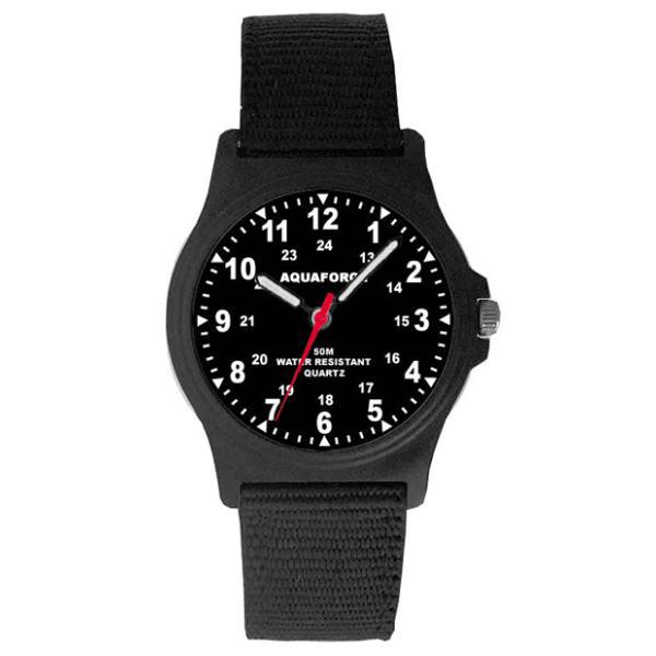 Frontier Aquaforce Tactical Analog Field Watch, Black