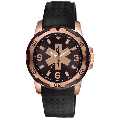 Aquaforce 54EMT, Rose Gold & Black EMT Dress Watch