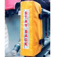 Ladder Boot, Yellow Cordura w/ Stay Back Reflective Panel