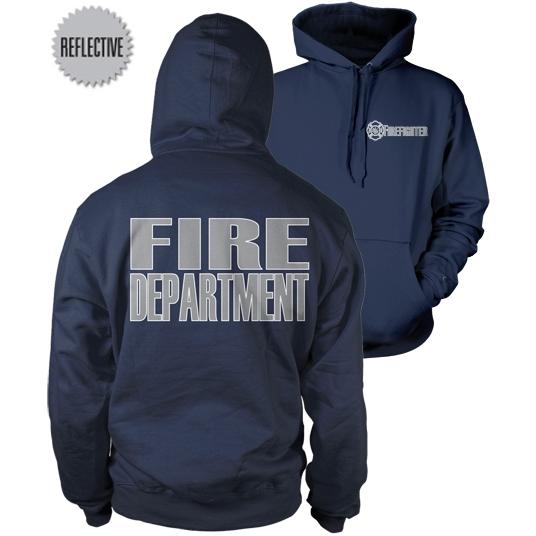Fisher Sportswear Firefighter Reflective Hooded Sweatshirt