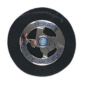 Gould & Goodrich Duty Leather Round Clip-On Black Badge Holder