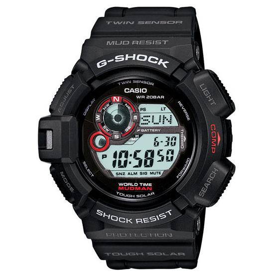 Casio G-Shock Mudman Solar Watch, Atomic Red