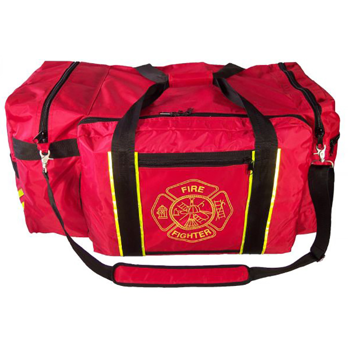 Exclusive Red Jumbo Gear Bag with Reflective Trim and Maltese Cross