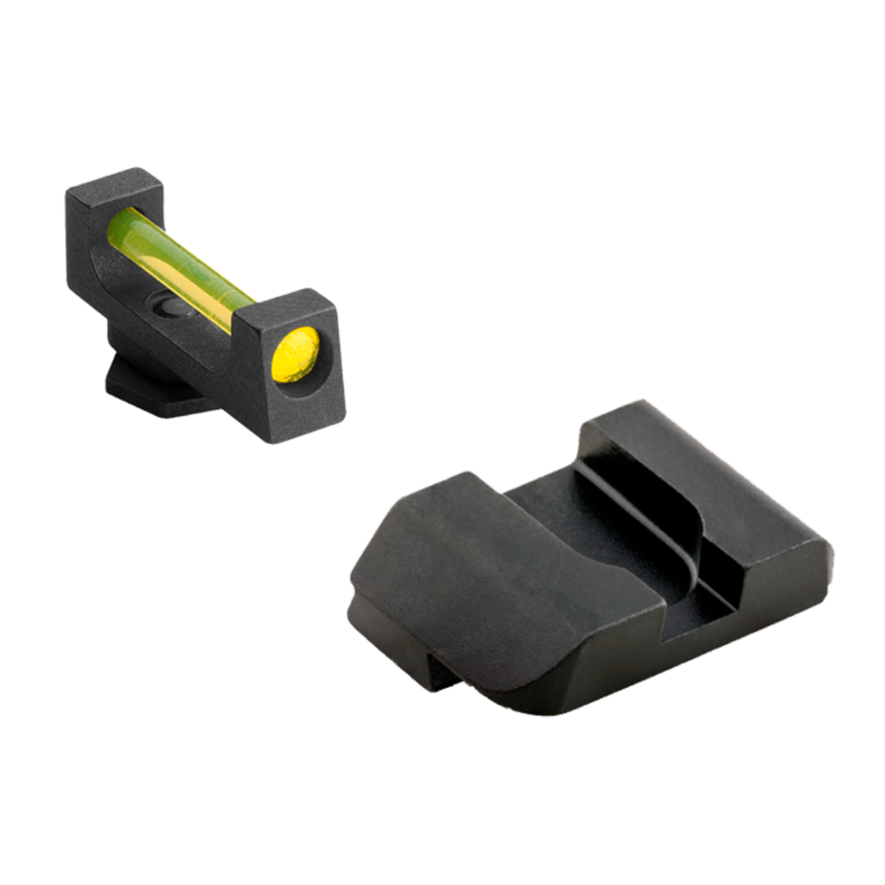 AmeriGlo Amber Fiber Optic Combo Set for Glock