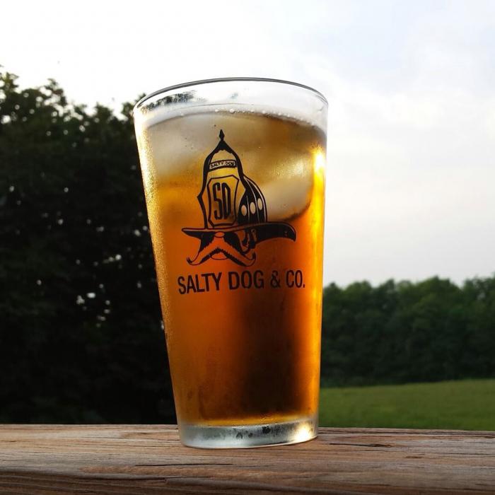 Gettin Salty Logo Pint Glass