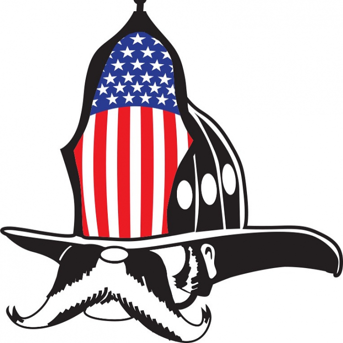 Gettin Salty Classic Salty Dog Flag Firefighter Decal