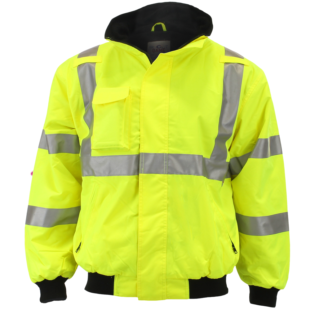Game Workwear The Navigator High Visibility Jacket with Reflective Trim