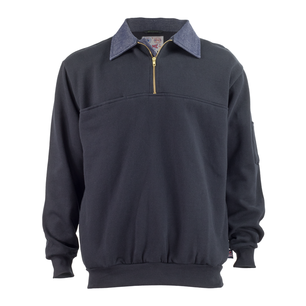 Game Workwear 8020-D The Defender Job Shirt with Denim Collar and Elbows
