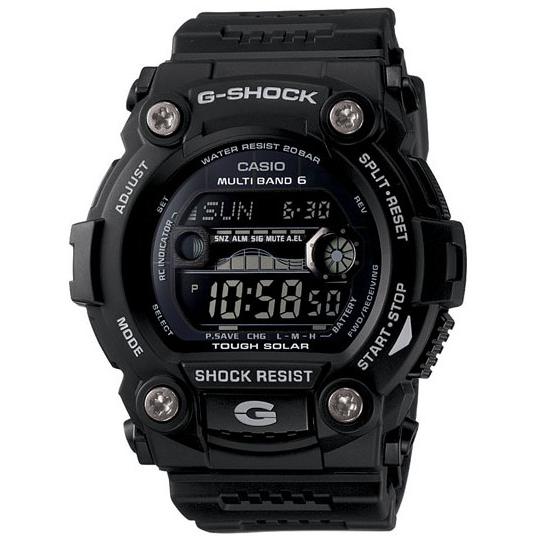 Casio G-Shock G-Rescue Solar Atomic Watch, Tide/Moon, Black