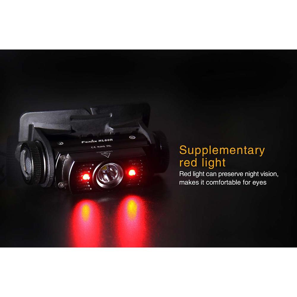 Fenix HL60R Rechargeable Headlamp, 950 Lumens, 1 18650 Li-ion Battery or 2 CR123A Batteries, 3.4� Long