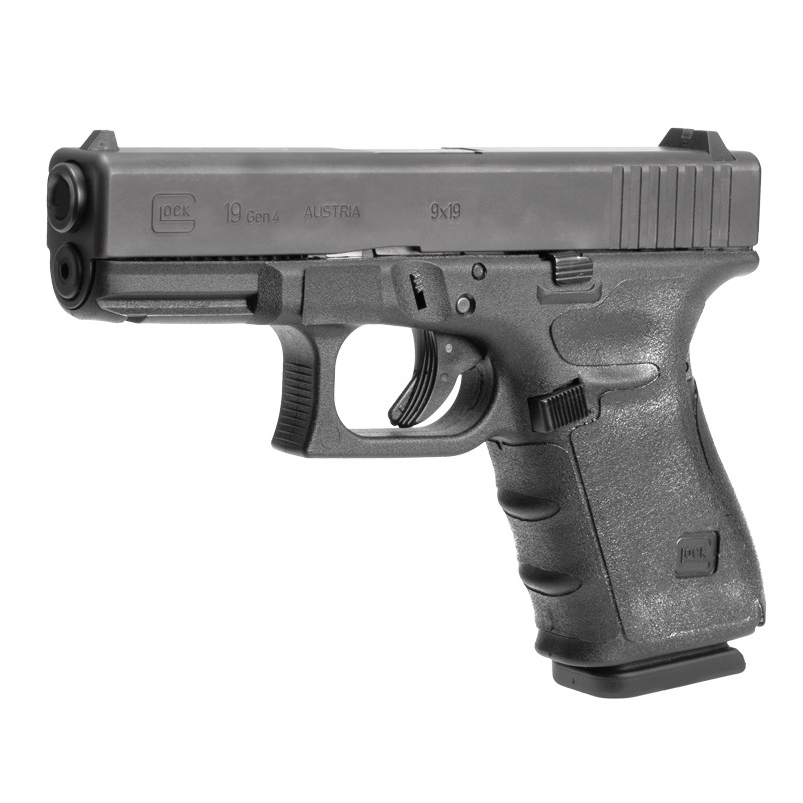 Hogue Wrapter Rubber Adhesive Grip for Gen 4 Glock 19, 19MOS, 23, 32