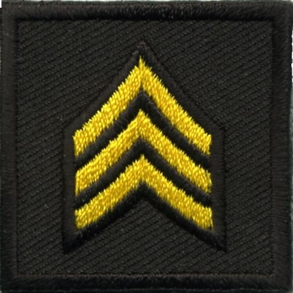 Hero's Pride Embroidered Sergeant Chevron 1.5