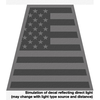 Exclusive Black Reflective American Flag Tet Decal