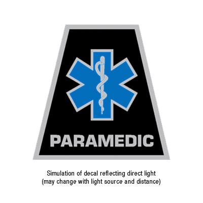TheFireStore Exclusive Reflective Helmet Tetrahedron Star of Life Paramedic