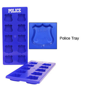 TheFireStore Ice Cube Trays with Maltese Cross or Badge Molds
