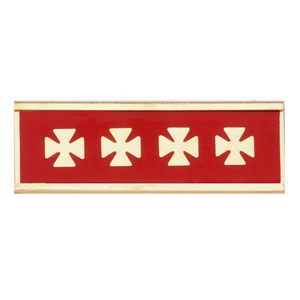 Blackinton Commendation Bar Years of Service with Maltese Cross