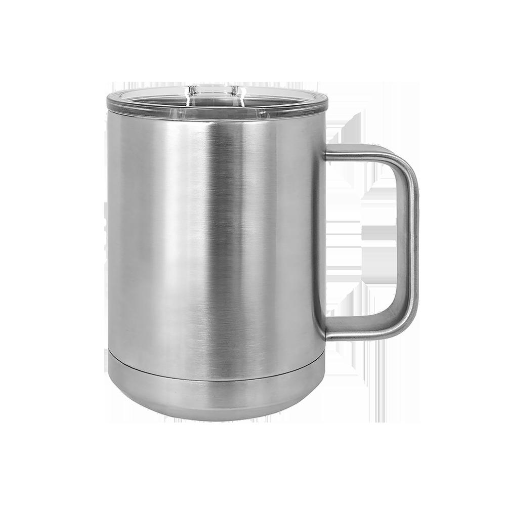 Polar Camel 15 Oz. Stainless Steel Vacuum Insulated Mug with Slider Lid