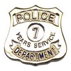 Police Department 7 Years Of Service Pin
