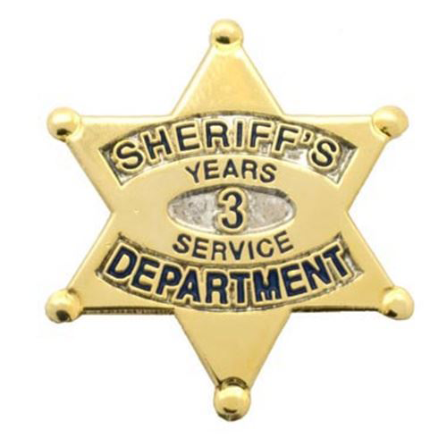 Sheriff's Department 3 Years Of Service Pin