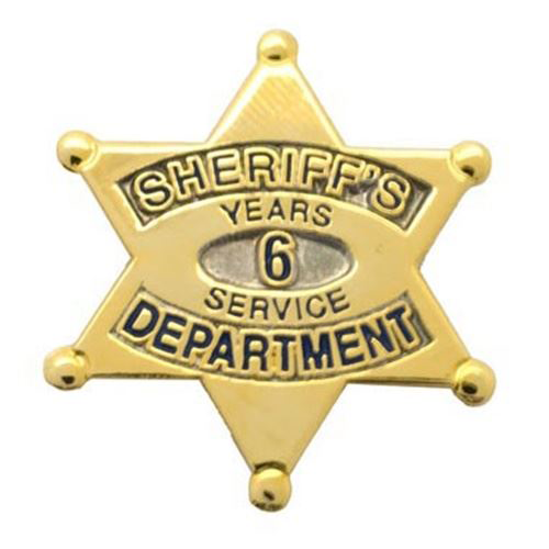 Sheriff's Department 6 Years Of Service Pin
