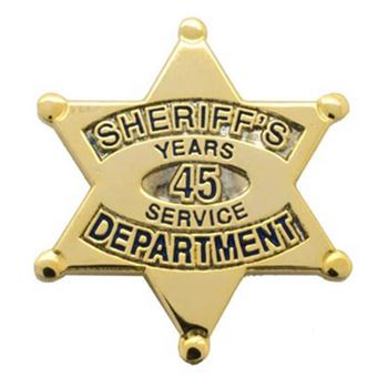 Sheriff's Department 45 Years Of Service Pin