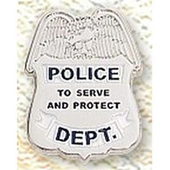 Police Shield With Eagle Pin