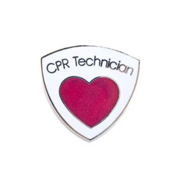 CPR Technician Heart Pin
