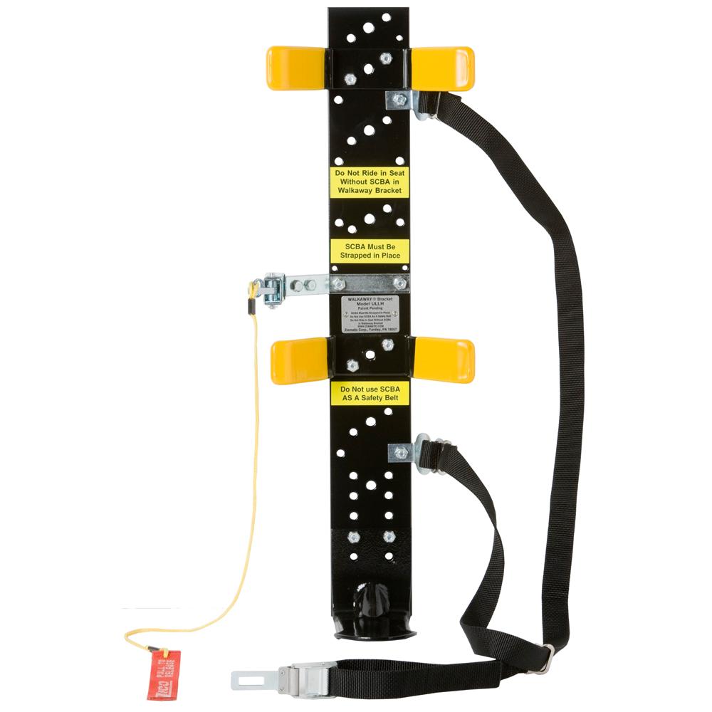 1054 Load & Lock Walkaway Bracket for SCBA, Unassembled w/ Strap