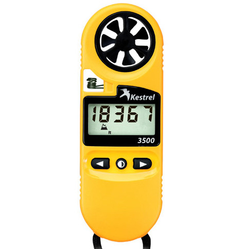Kestrel 3500 Pocket Weather Meter, Yellow