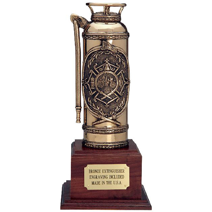 Liberty Artworks Bronze Extinguisher with Walnut Base