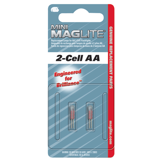 Maglite Mini Maglite AA Flashlight Replacement Xenon Lamps, 2-Pack