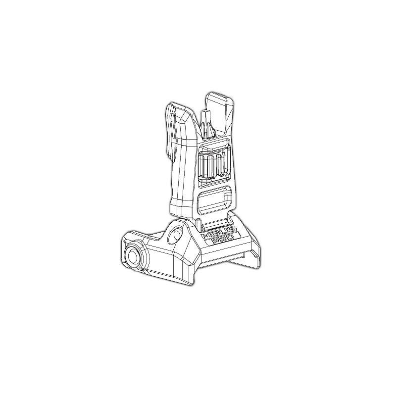 Magpul MBUS Pro Back-Up Sight, Front