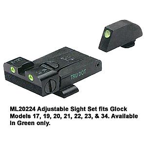 Meprolight TRU-DOT Adjustable Night Sight Set for Glock Models 17,19, 20, 21, 22, 23, & 34