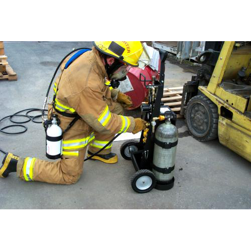 Multi-Pak Rescue Cart, 4 Outlets 4500 psi, CGA-347 (No Cylinders)