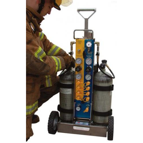 Tech-Rescue Cart, 9 Outlets, 5500 psi, CGA-347 (No Cylinders)