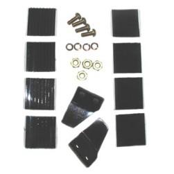 Cairns Impact Cap Retention Kit, Tabs, Screws, VELCRO® brand for 1010 & 1000 Helmet
