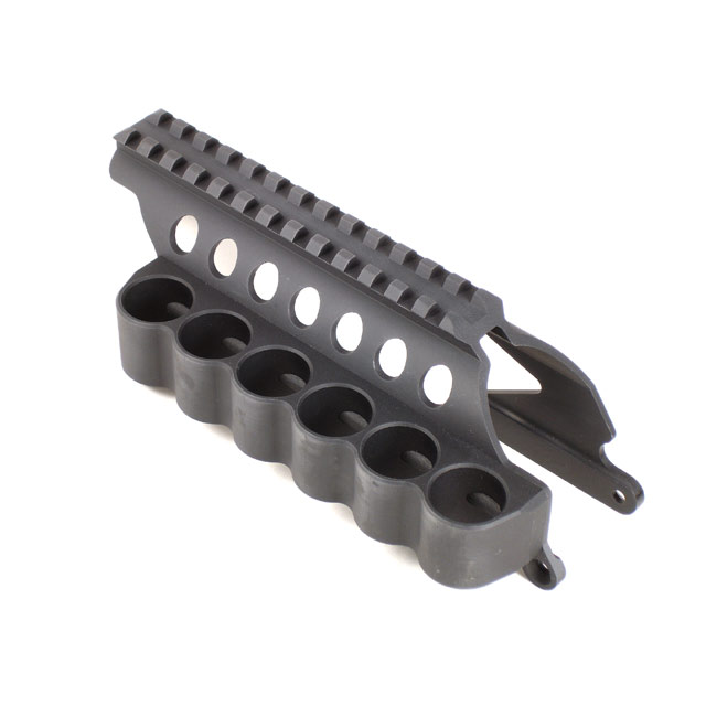 Mesa Tactical SureShell Carrier and Rail for Moss 500 (6-Shell, 12-GA, 4½ in)