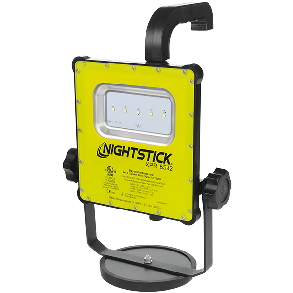 Nightstick Intrinsically Safe Rechargeable LED Scene Light with Magnetic Base