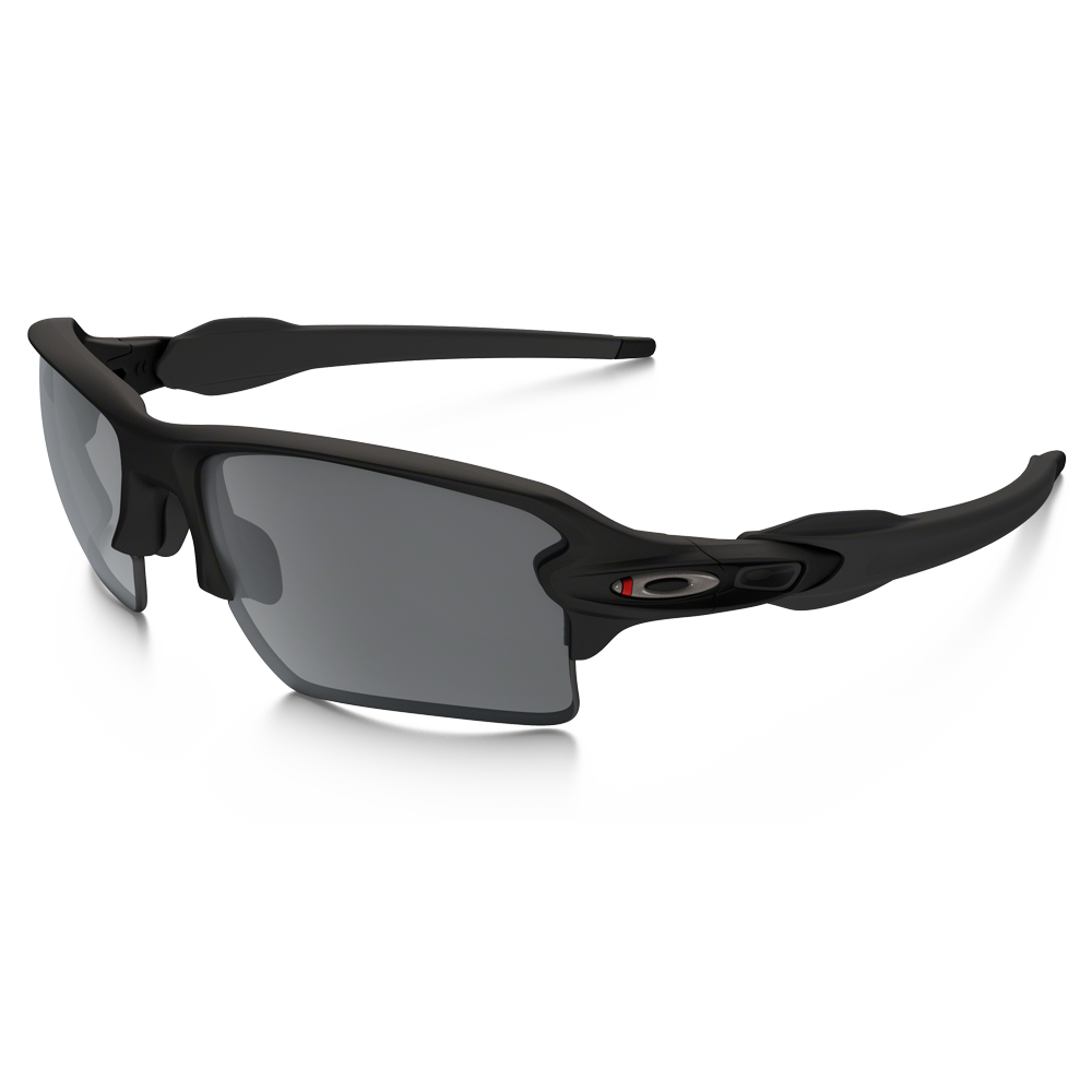 Oakley SI Flak 2.0 XL Thin Red Line Satin Black Frames w/ Black Iridium Lenses