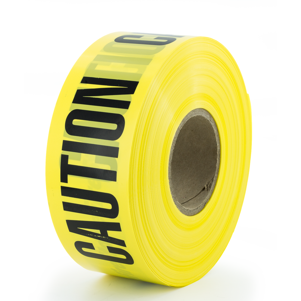 OfficerStore Barricade Tape, 3 in. x 1000 ft., 3 Mil. Thick