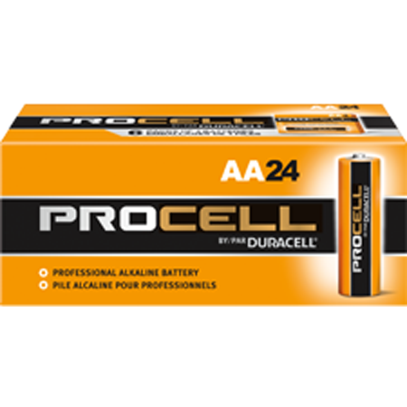 Duracell Procell AA Cell Alkaline Battery, Box of 24