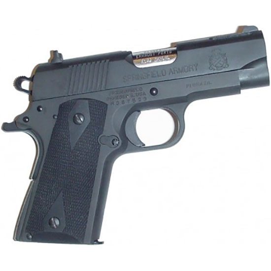 Pearce Grips Springfield Armory 1911 Compact Model Rubber Side Panel Grips