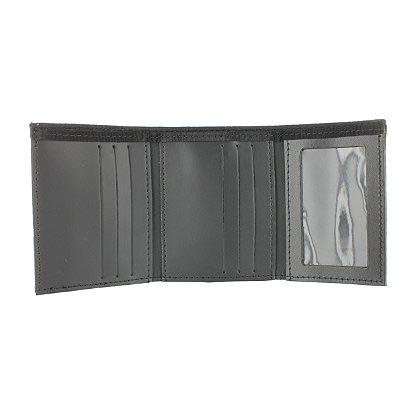 Exclusive Trifold Dress Wallet with Single ID Window, PBI Black Matrix, 2