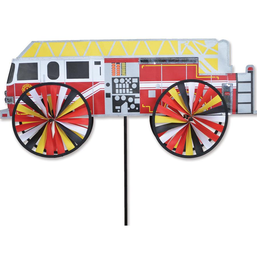 """Premier Kites 26"""" Modern Fire Truck Wind Spinner"""