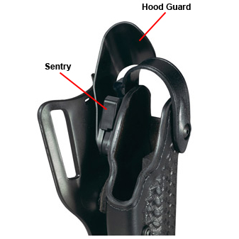 Safariland Model 6002 SLS Sentry & Hood Guard Combination, Parts Only -- for Retrofit or Repair